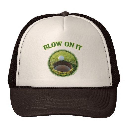 Blow On It Golf Trucker Hats