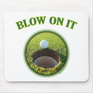 Blow On It Golf Mouse Pad