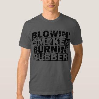Blow Smoke, Burn Rubber T-shirts