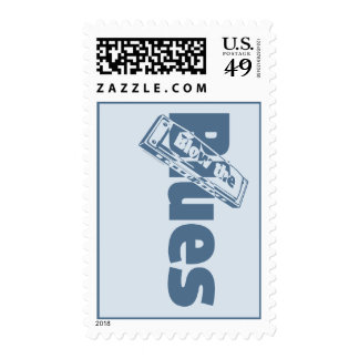 Blow The Blues Postage Stamps