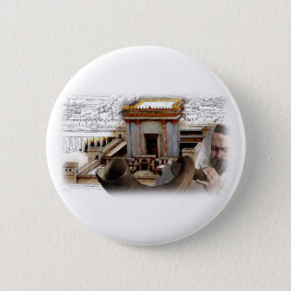 Blow the Shofar in Zion Pinback Button