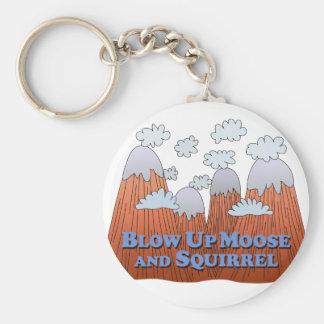 Blow Up Moose and Squirrel - Dark Keychain