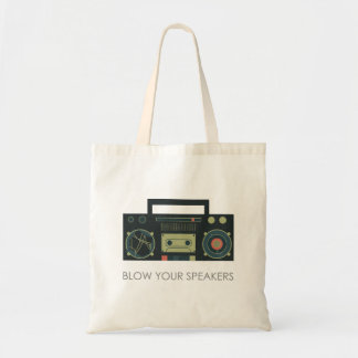 Blow your speakers - boombox style tote bag