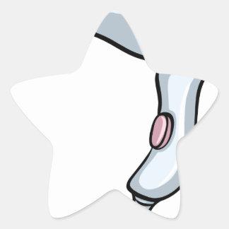 Blowdryer Star Sticker