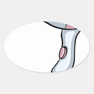 Blowdryer Oval Sticker
