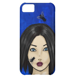 Blowflies and the Girl (Blue Bacteria) iPhone 5C Case