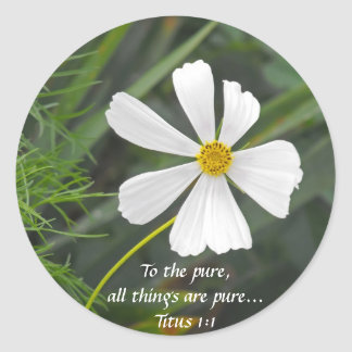 Blowin` in the Wind - Purity Classic Round Sticker
