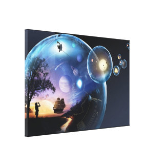 Blowing Bubbles - Artist Rendering Canvas Print