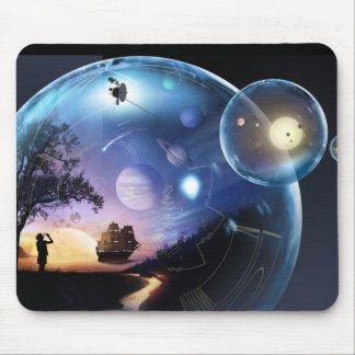 Blowing Bubbles - Artist Rendering Mouse Pad