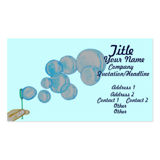 Blowing Bubbles Double-Sided Standard Business Cards (Pack Of 100)