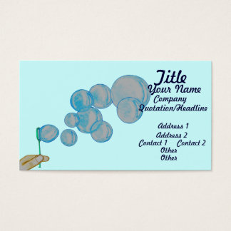 Blowing Bubbles Business Card