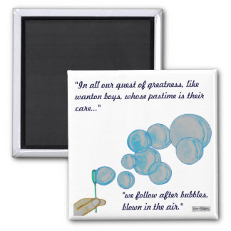 Blowing Bubbles Fridge Magnet