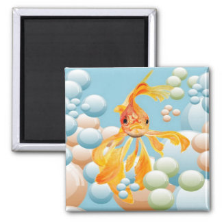 Blowing Bubbles Refrigerator Magnet