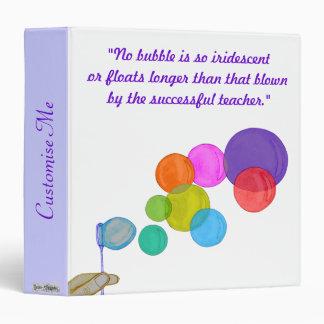 Blowing Bubbles (Rainbow) Binder