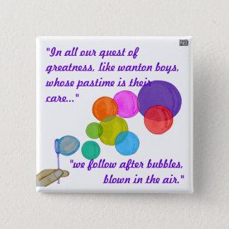 Blowing Bubbles (Rainbow) Button