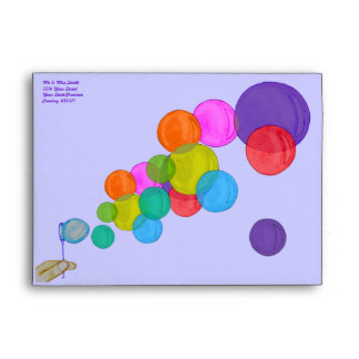 Blowing Bubbles (Rainbow) Envelopes