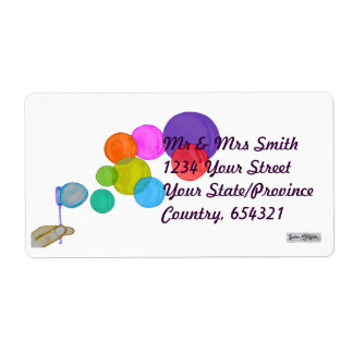 Blowing Bubbles (Rainbow) Shipping Label