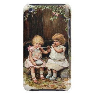 Blowing Bubbles Vintage Girls iPod Case-Mate Cases