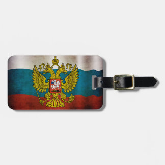 Blowing flag of Russia Bag Tag