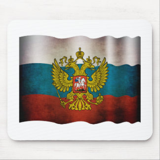 Blowing flag of Russia Mouse Pad