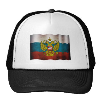 Blowing flag of Russia Trucker Hat