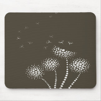 blowing flowers mouse mats