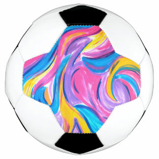 Blowing In The Wind-Abstract Art Brushstrokes Soccer Ball