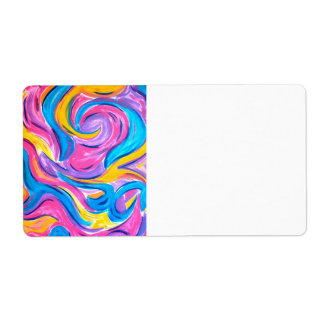 Blowing In The Wind - Abstract Art Handpainted Shipping Label