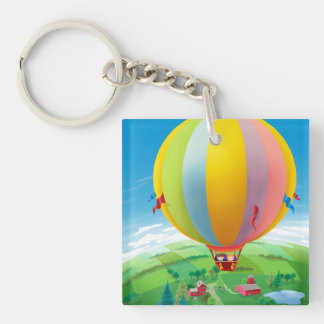 Blowing In The Wind Double-Sided Square Acrylic Keychain