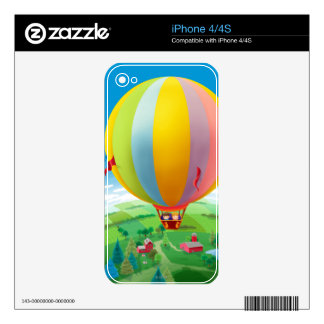 Blowing In The Wind Decal For iPhone 4