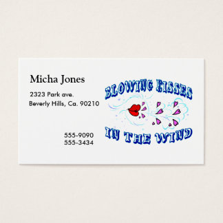 Blowing Kisses In The Wind Business Card