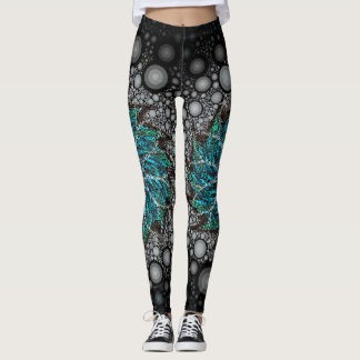 Blowing like a Hurricane by Stacey Lynn Leggings
