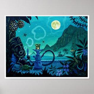 'blowing Smoke On The Turquoise Coast' Tiki Print at Zazzle