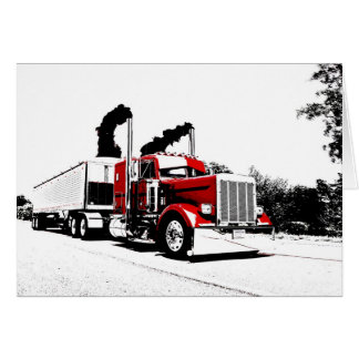 Blowing Through Peterbilt Note Card