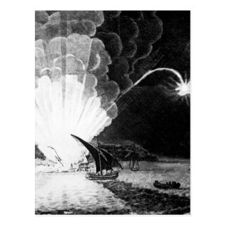 Blowing Up of the Fire Ship Intrepid commanded by Postcard