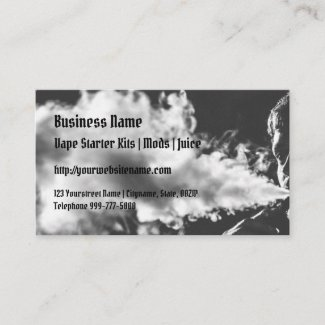 Blowing Vape Clouds Business Cards