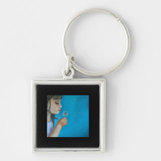 Blowing weed-Seeds of Tomorrow Silver-Colored Square Keychain