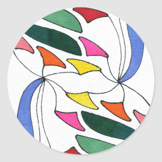 """""""""""blowing wind"""" Abstract Design Sticker"""