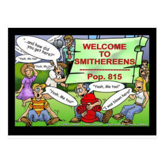Blown 2 Smithereens Funny Gifts & Tees Postcard