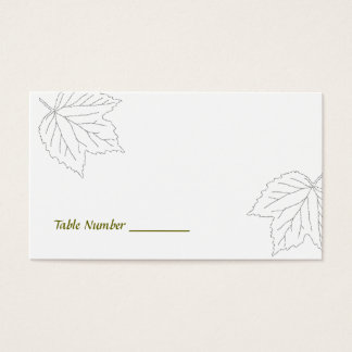 Blown Away Maple Leaf Table Number Cards