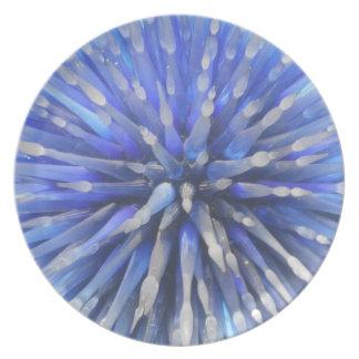Blown Glass Blue Star Plate