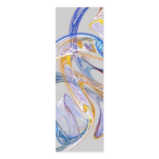 Blown Glass Bookmark Business Card Template