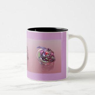Blown Glass Two-Tone Coffee Mug