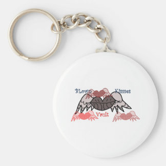 Blown kisses vault keychain