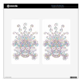 Blown Mind Sugar Skull Decals For Kindle Fire