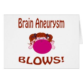 Blows Brain Aneurysm Card