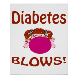 Blows Diabetes Poster