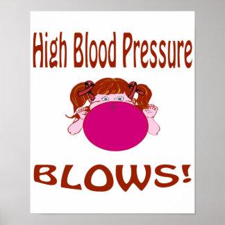 Blows High Blood Pressure Poster