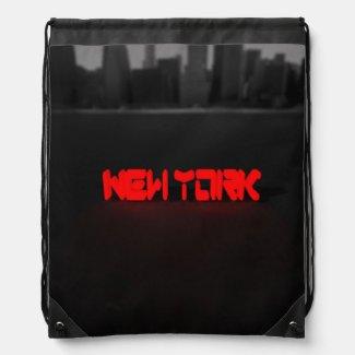 Blox3dnyc.com New York Hudson river. Drawstring Backpack