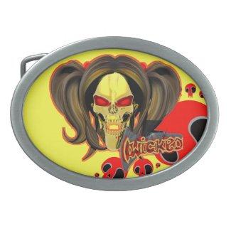 Blox3dnyc.com Wicked lady design. Belt Buckle
